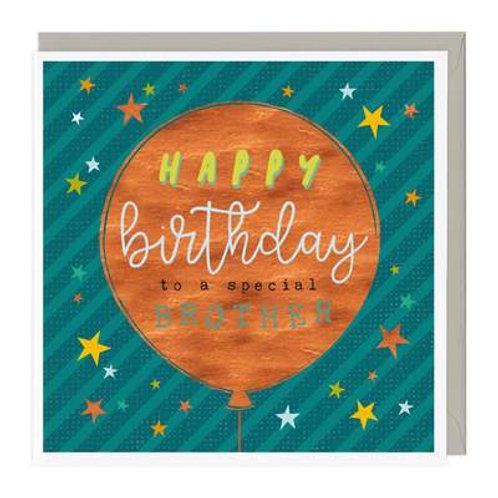 Big Balloon Brother Birthday Card