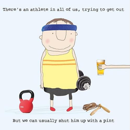 Athlete Pint Card