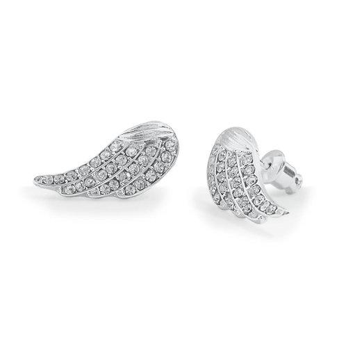 Crystal Angel Wing Earrings