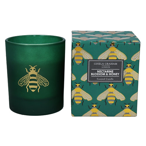 Boxed Scented Candle - Emerald Bees/Nectarine Blossom & Honey