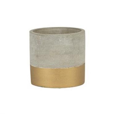 Mini Gold Dip Cement Planter