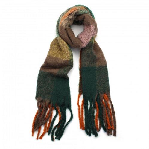 Multi green scarf