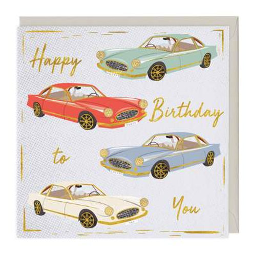 Classic Cars Happy Birthday To You Card