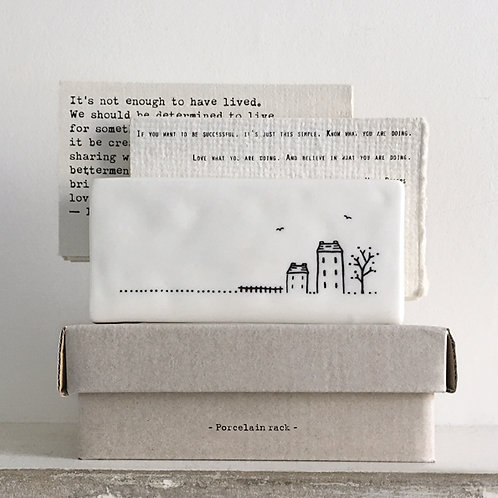 Porcelain letter rack