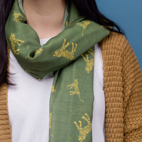 Tiger Green Scarf