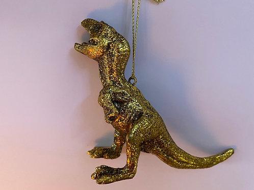 Gold Resin Dinosaur Decoration