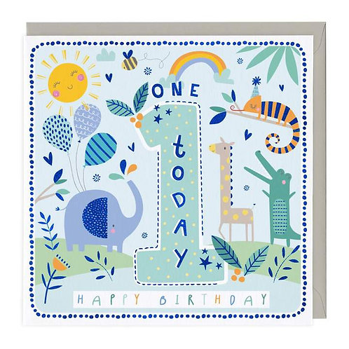 1 Today Jungle Friends Children's Birthday Card