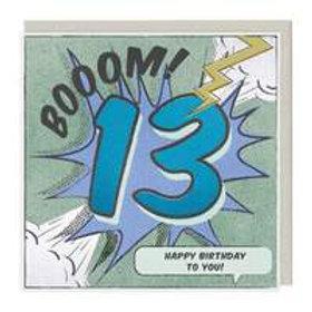 13th Birthday Boom Card