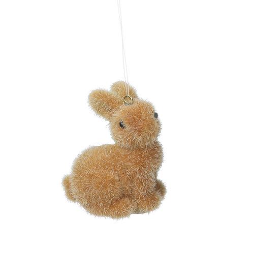 Resin/Flock Brown Mini Bunny Decoration