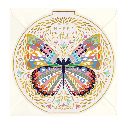Birthday Butterfly Bauble Card