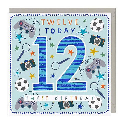 12 Today Fun Games Children's Birthday Card