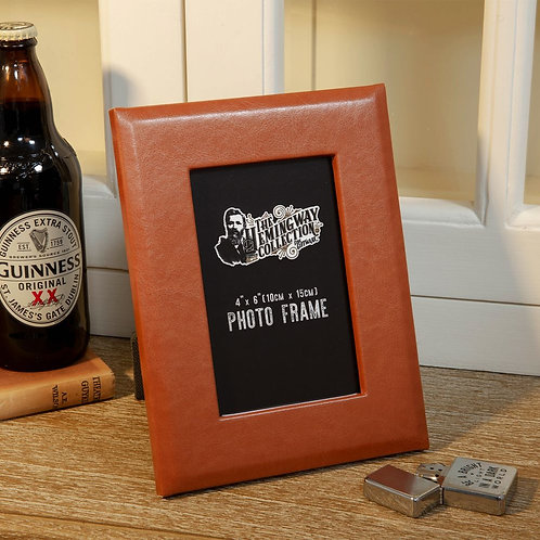 Faux Leather Photo Frame