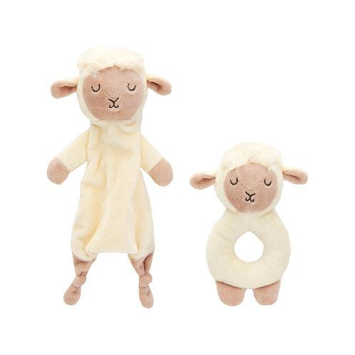 Baa Baa Lamb Comforter and Rattle Set