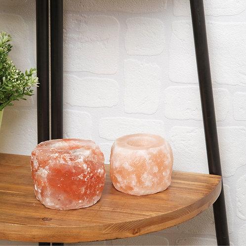 Set of 2 Himalayan Salt Tealight Holder