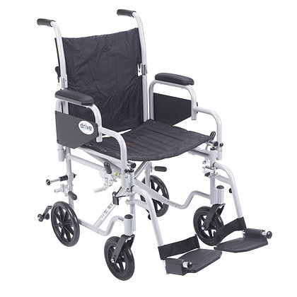 Transport Chair Wheelchair with Swing away Footrest