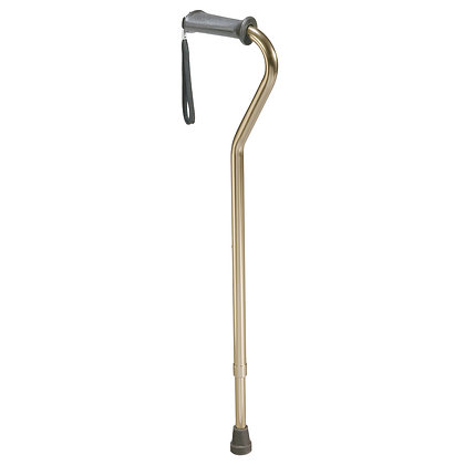 Rehab Ortho K Grip Offset Handle Cane with Strap