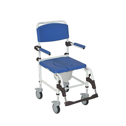 AluAluminum Shoinum Shower Commode Transport Chair