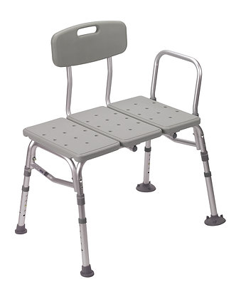 Plastic Shower Tub Transfer Bench with Adjustable