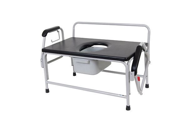 Bariatric Extra Wide Drop Arm Bedside Commode Seat