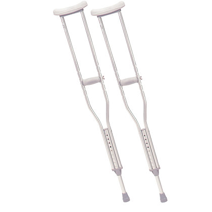 Walking Crutches with Underarm Pad, Adult