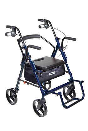 Duet Rollator/Transport Chair - Blue
