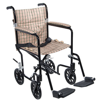 Deluxe Aluminum Transport Chair