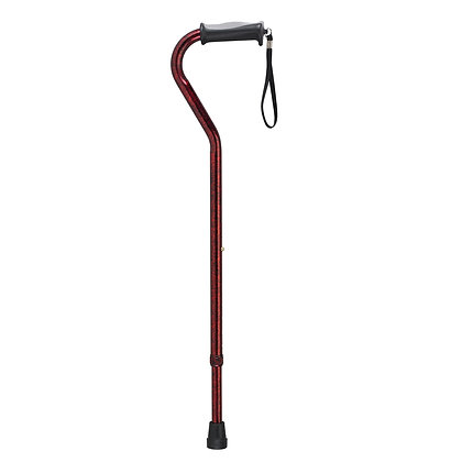 Adjustable Height Offset Handle Cane with Gel Hand