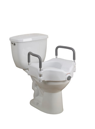 Elevated Raised Toilet Seat with Removable Padded