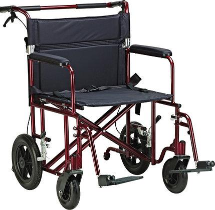 """22"""" Bariatric Aluminum Transport Chair"""