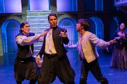 Romeo, Mercurio y Benvolio