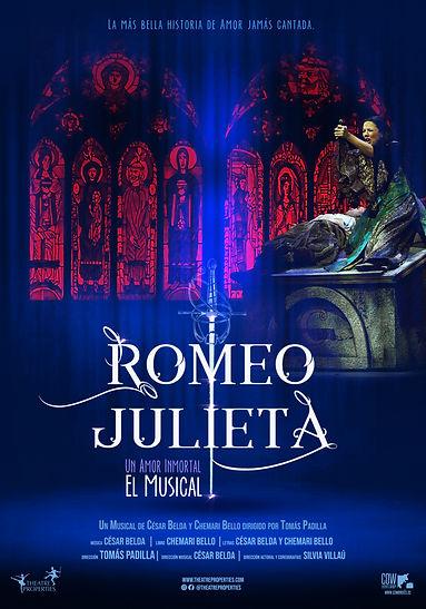 cartel 100x70 ROMEO Y JULIETA EL MUSICAL