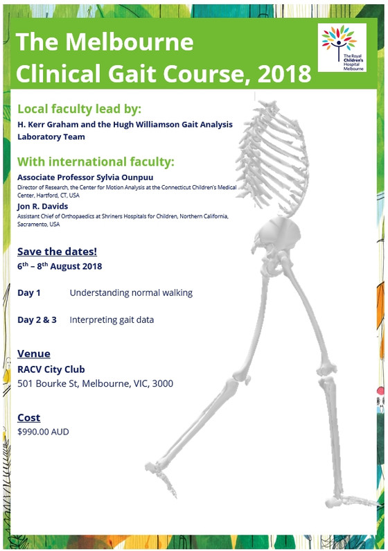 Registrations for the 2018 Melbourne Clinical Gait Course are Now Open