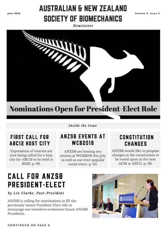 ANZSB Events @ WCB2018 + Call for President-Elect & ABC12 Host City EOIs: June Newsletter Out No