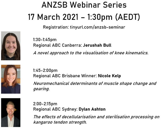 Join us for the first ANZSB Webinar on Wed 17 March at 1:30pm (AEDT)!