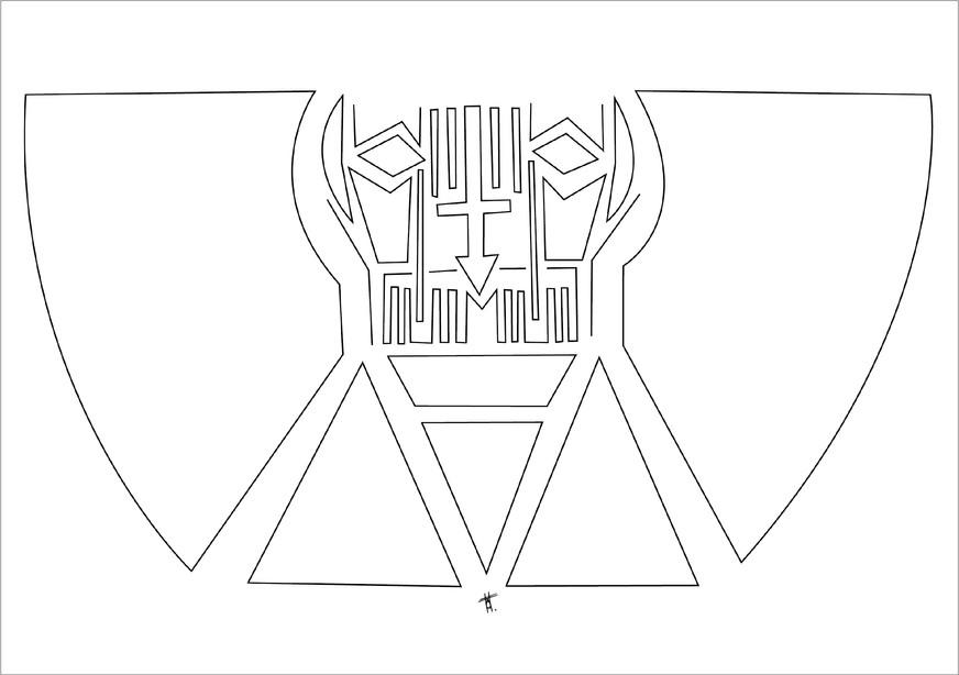 Victor, 2012, encre sur papier, 50 x 70cm, Chili. Tirages en formats B2, A2 et A3, impression laser sur papier 200g