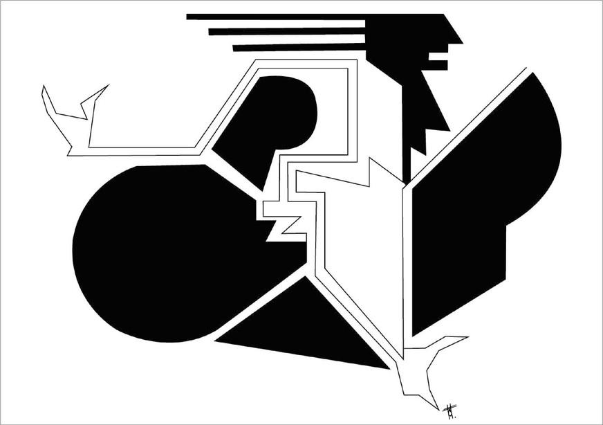 Naissance, 2018, encre sur papier, 50 x 70cm, Bruxelles. Tirages en formats B2, A2 et A3, impression laser sur papier 200g