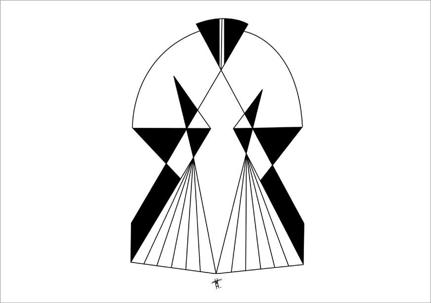 Vision, 2014, encre sur papier, 50 x 70cm, Pérou. Tirages en formats B2, A2 et A3, impression laser sur papier 200g