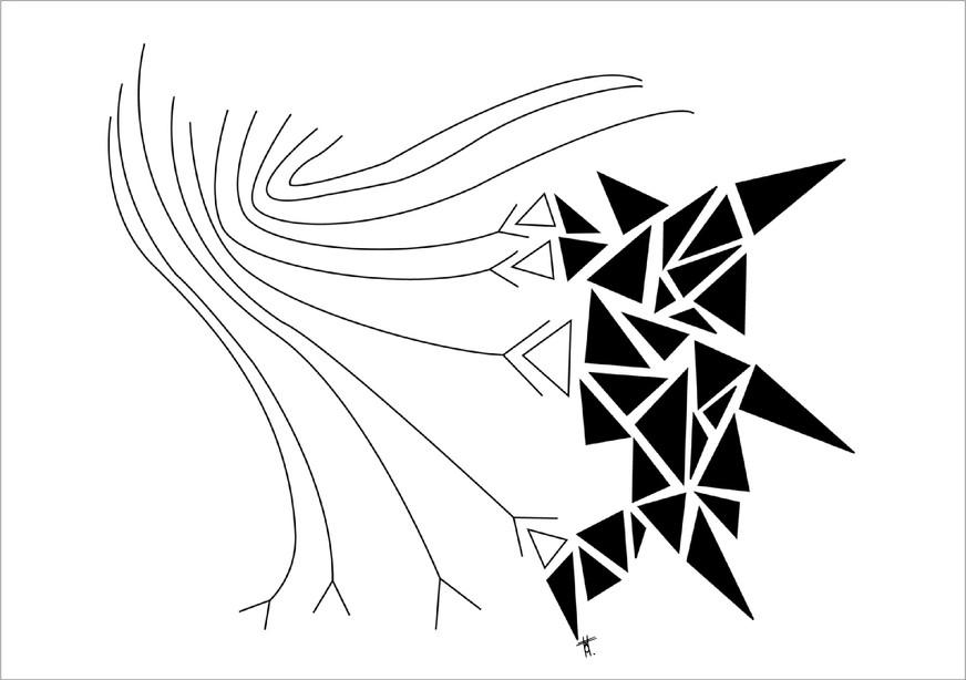 Mouvement, 2014, encre sur papier, 50 x 70cm, Pérou. Tirages en formats B2, A2 et A3, impression laser sur papier 200g
