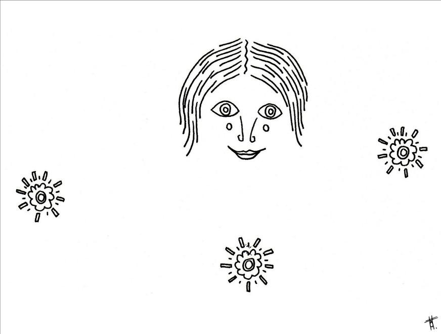 Visage composé 5/8, 2020, 14.8 x 21cm, Bordeaux. Tirage série en 5 exemplaires A5, impression laser sur papier 200g