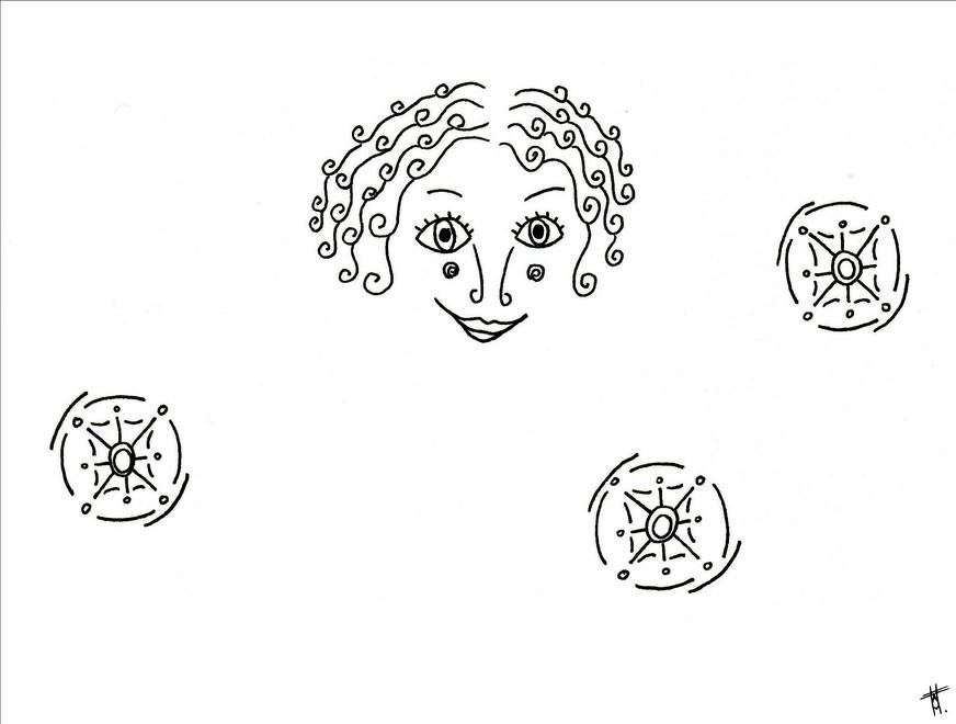Visage composé 6/8, 2020, 14.8 x 21cm, Bordeaux. Tirage série en 5 exemplaires A5, impression laser sur papier 200g