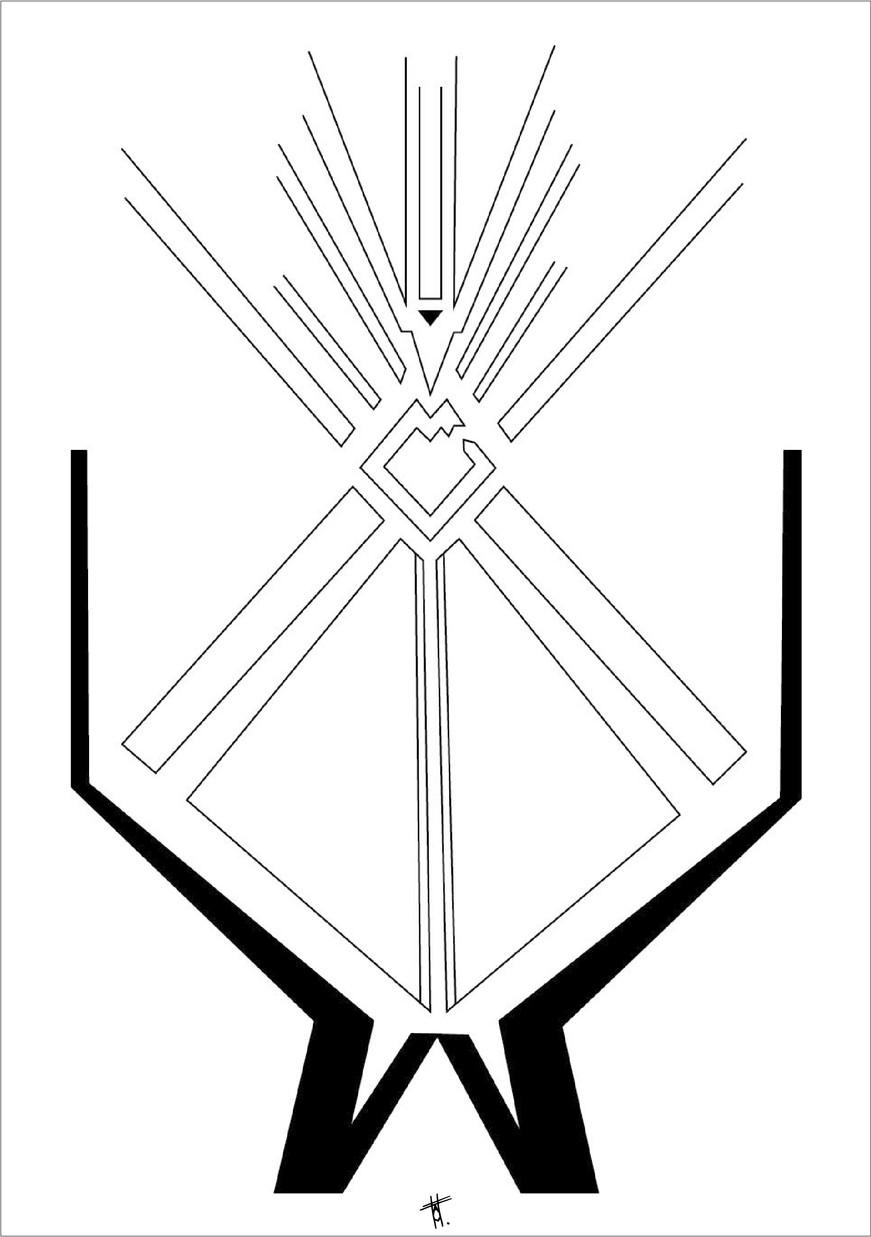 Rite, 2018, encre sur papier, 50 x 70cm, Bruxelles. Tirages en formats B2, A2 et A3, impression laser sur papier 200g