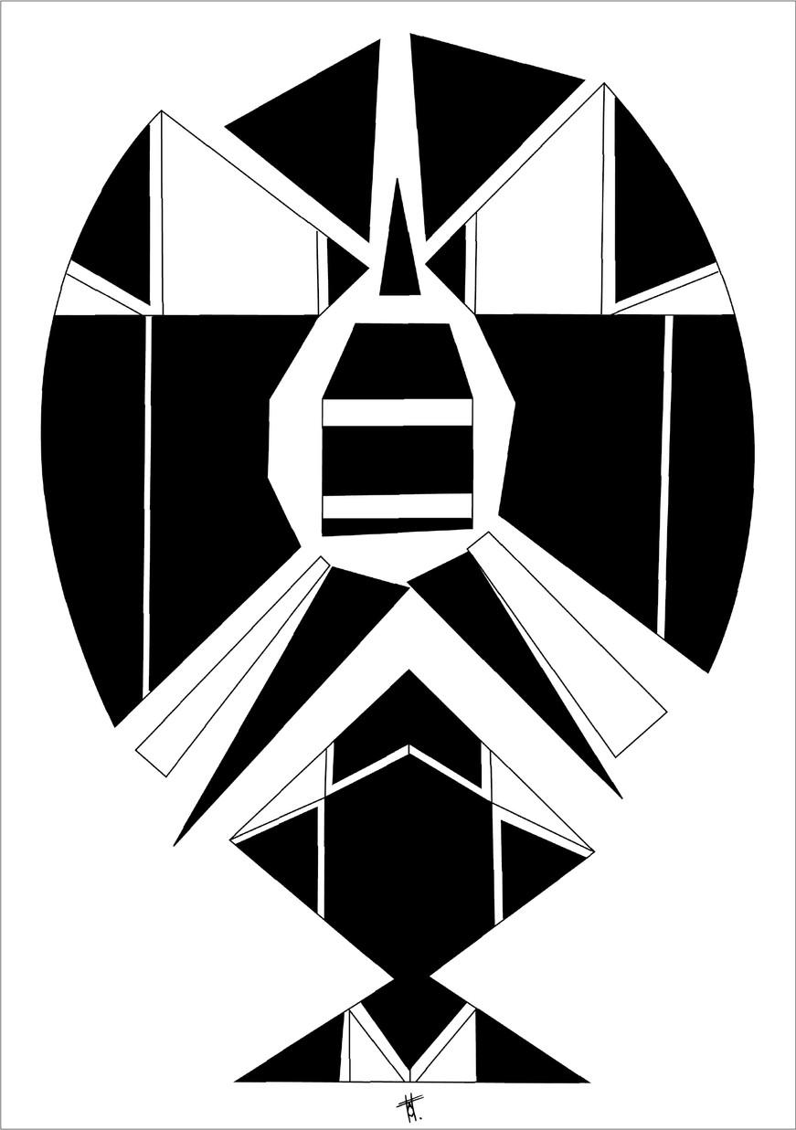 Départ, 2012, encre sur papier, 50 x 70cm, Chili. Tirages en formats B2, A2 et A3, impression laser sur papier 200g