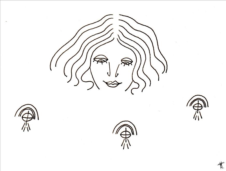 Visage composé 2/8, 2020, 14.8 x 21cm, Bordeaux. Tirage série en 5 exemplaires A5, impression laser sur papier 200g