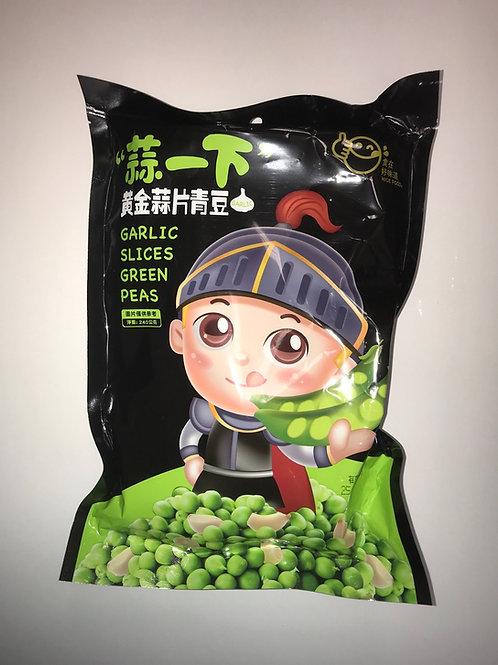 Garlic Slices Green Peas
