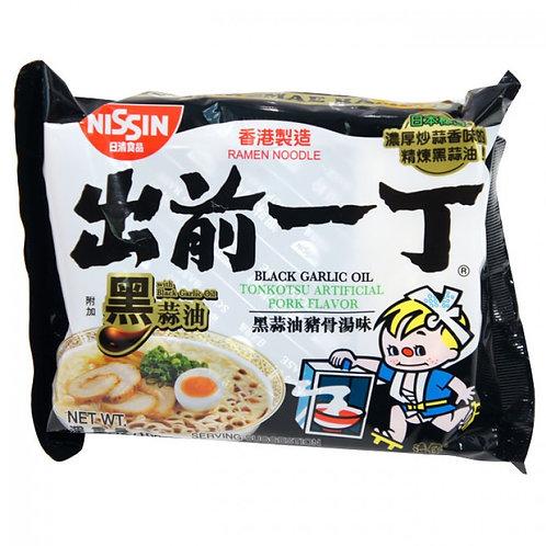 NISSIN, Black Garlic Oil, Tonkotsu Artificial Pork Flavor Ramen