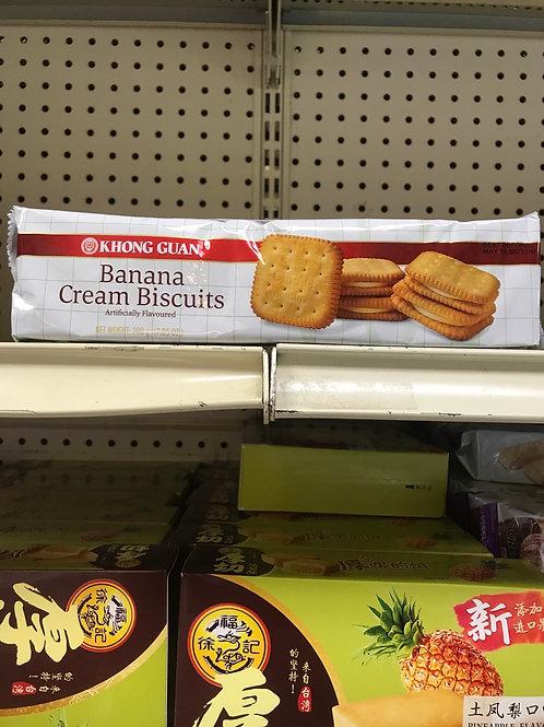 Banana Cream Biscuits