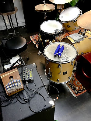 About - Kahil at Cultivate Drum Setup.jp