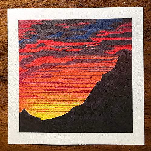 Etching Sky print