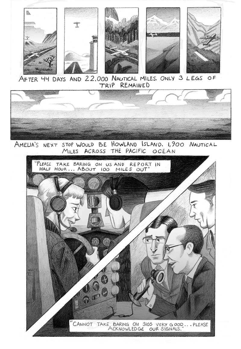 In Progress Amelia Earhart comic