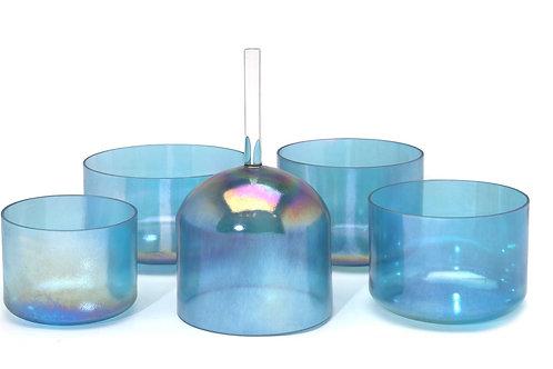 Aqua Aura with 24K Gold Alchemy Crystal Singing Bowl